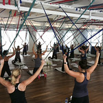 Our hard-working clients breaking a sweat with TAM ceiling resistance bands!