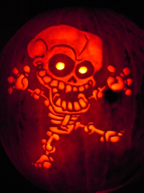 Skeleton pumpkin carving flickr photo sharing for Skeleton pumpkin design