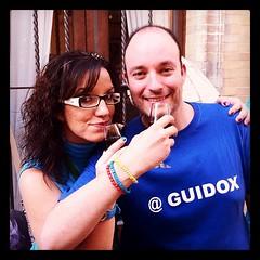 Con @guidox y la parte mas selecta del #EBE11 probando el vino de naranja por primera vez