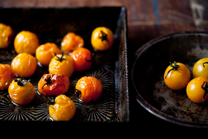 Roasted Yellow Cherry Tomatoes