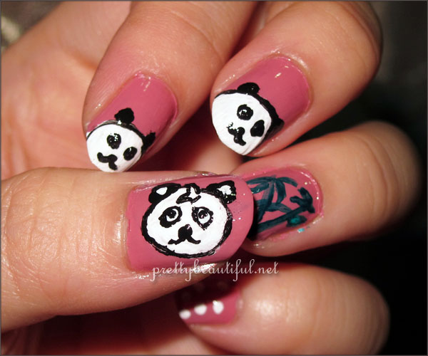 Hello Panda Nail Art Tutorial 2