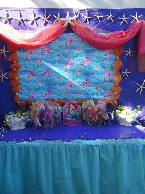Little mermaid birthday party flickr photo sharing for Ariel birthday party decoration ideas