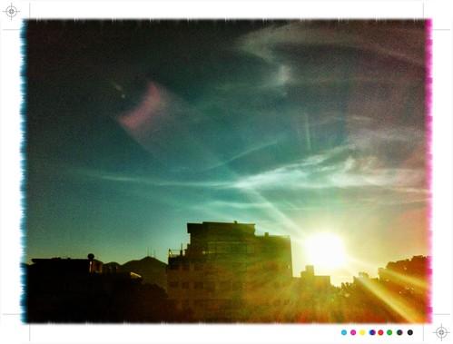 sky valencia sunrise venezuela