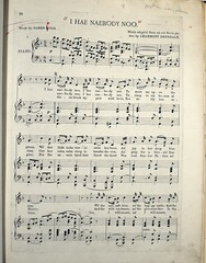 Learmont Drysdale's music to James Hogg's 'I hae nobody noo'. Cb10-x.11