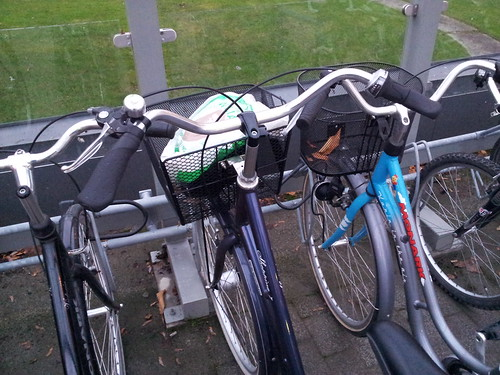 Not much room with standard bike stands