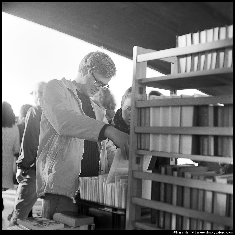 A man browsing for books