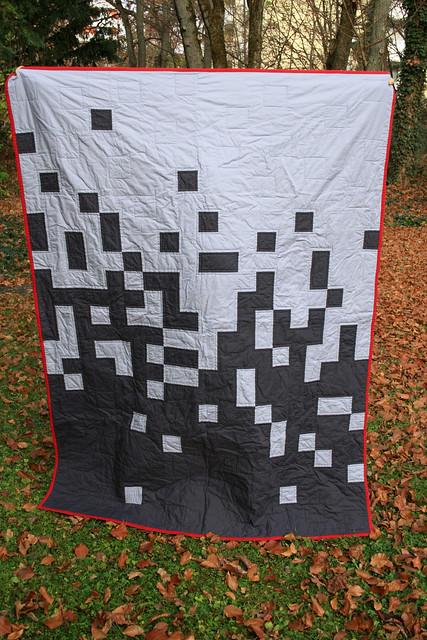 swiss pixel quilt front
