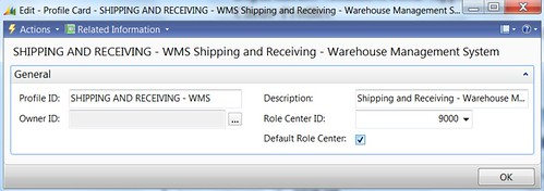 How to Change Default Role Center in Dynamics NAV RTC - Shipping And Receiving - WMS