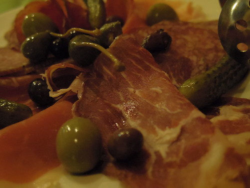 Ham and olives
