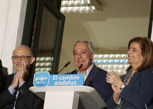 Comparecencia de Javier Arenas tras conocer los resultados del 25M