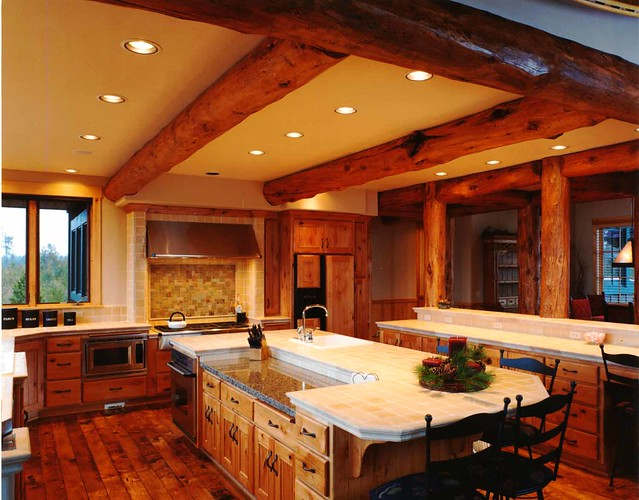 Small custom log homes joy studio design gallery best for Log home kitchens gallery