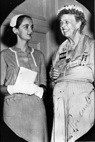 Roxcy Bolton with Eleanor Roosevelt, 1956