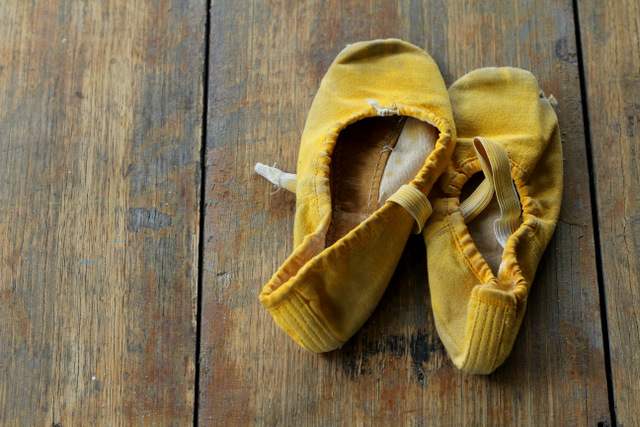 (very) pre-loved ballet shoes