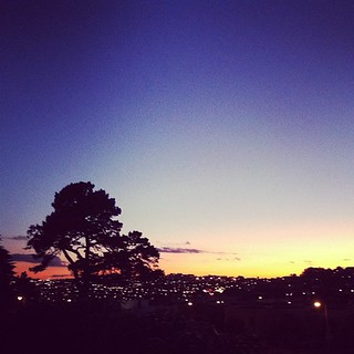 Sunset in Bernal Heights