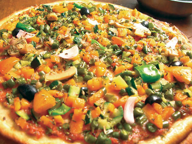 Vegetable Pizza You Put In Rings And Bake