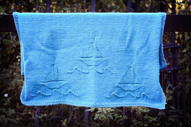 Sailboat Knitting Pattern Baby Blanket : Knit Sailboat Baby Blanket Flickr - Photo Sharing!