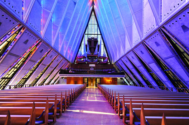 Air Force Academy chapel | Flickr - Photo Sharing!