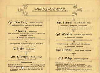 Boxing Program, 2 November 1918