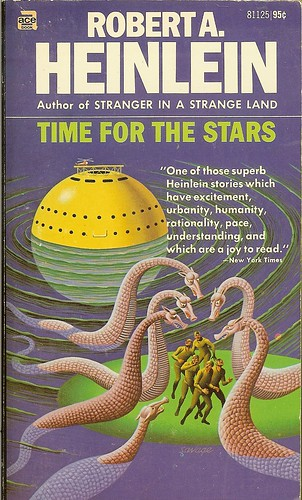Robert A. Heinlein - Time For The Stars - cover artistRobert A. Heinlein - Time For The Stars - cover artist Steele Savage