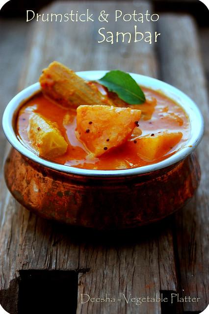 Drumstick & Potato Sambar 1