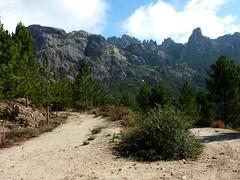 Intersection avec la piste d'Argazavu : crête et col de Manzaghja, Punta Samulaghja