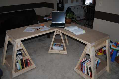 Wood Working - Sawhorse Desk