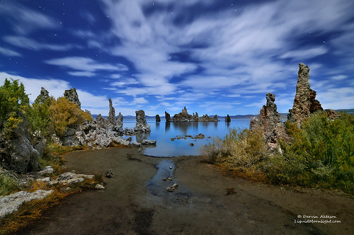 Midnight Shipwreck on Mono Lake, California