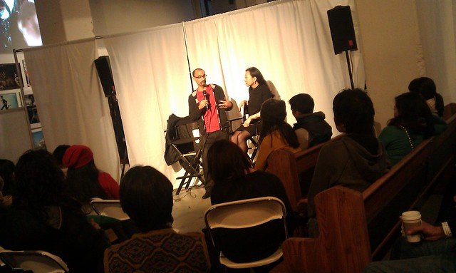 Junot Diaz and Min Jin Lee at Asian American Writers Workshop Page Turner Festival at Powerhouse Books