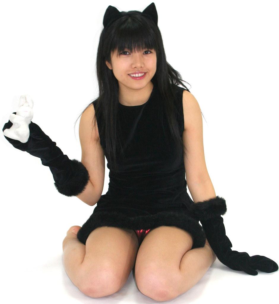 lucky bunny for halloween kitty