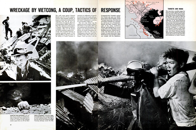 LIFE Feb 26, 1965 (4) - Wreckage by Vietcong, a coup, tactics of response