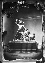 Canova's Theseus vanquishing Eurythion, king of the centaurs, Theseus Temple, Vienna, c. 1875, photographer unknown