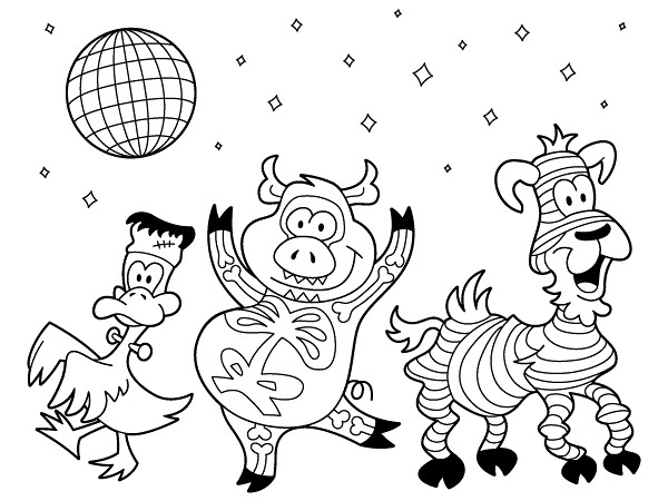 anime animal costumes coloring pages - photo#3