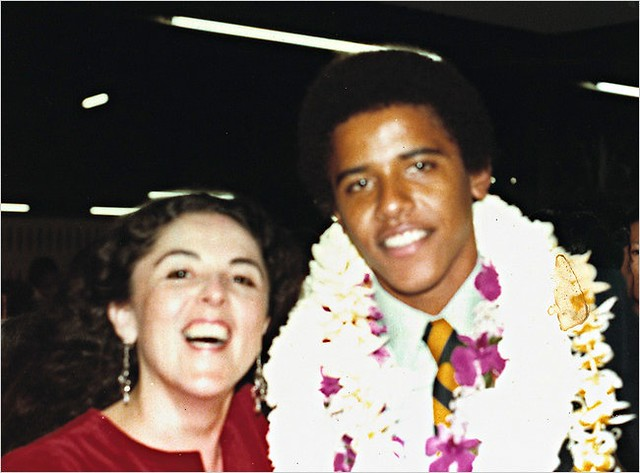 Barack Obama with his mother at the Punahou | Flickr ...