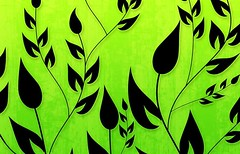 Climbing Vines Wallpapers in Bright Green by BackgroundsEtc