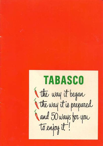 Tabasco recipe booklet front