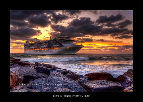 ocean sunrise rocks fortlauderdale cruiseship hdr awesomeness sigm1020 harborinlet nikond90