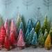 tiny bottle brush trees by bluegirlxo