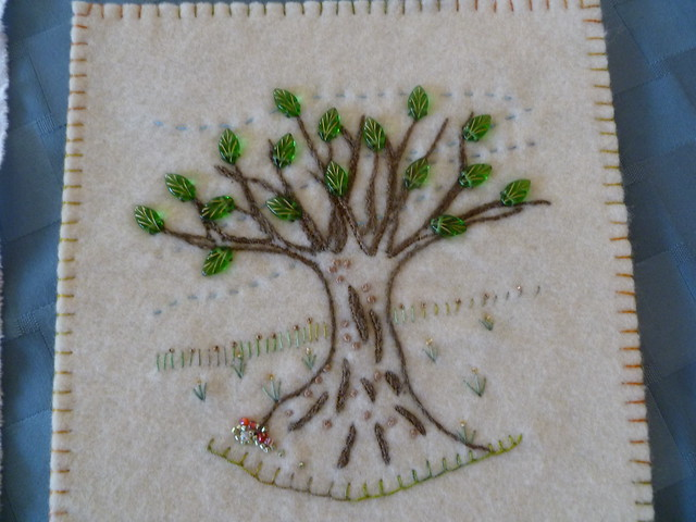Hand embroidered tree flickr photo sharing