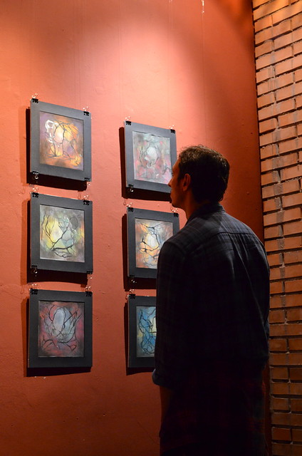 Person studying Alessandras Art Work