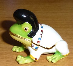 Elvis Frog Trinket Box by KenCalvino