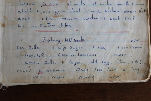 Photo of old recipe