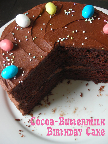 cocoa-buttermilk birthday cake