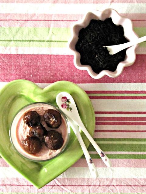 Cappuccino di Prosciutto Affumicato al Tartufo con Castagne Caramellate al MIele e Crema di Balsamico (2)