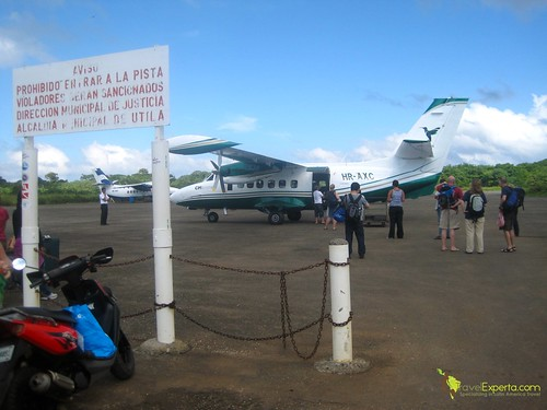 Airport of Utila Honduras
