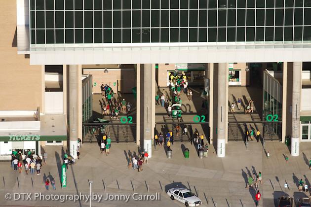 Apogee stadium aerials, Opening Night, UNT