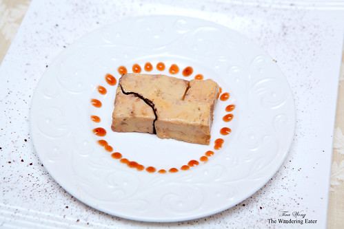 Foie gras torchon with plum sauce
