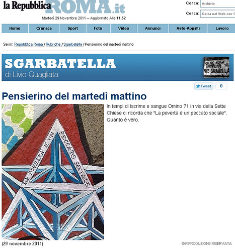 omino71 @ la repubblica (sgarbatella di Livio Quagliata) by OMINO71