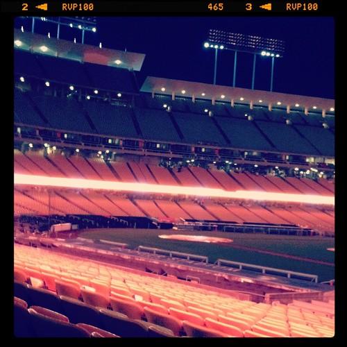 Dodger Stadium pre-dawn