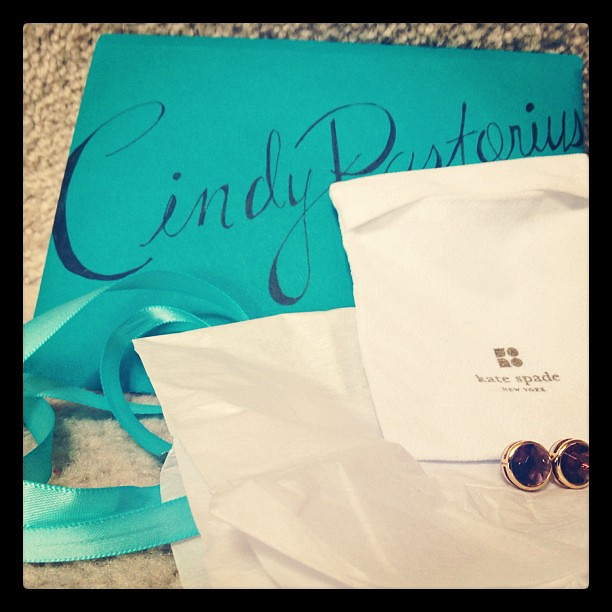 Such awesome earrings and a BEAUTIFUL note to go with it. Thanks Luce!