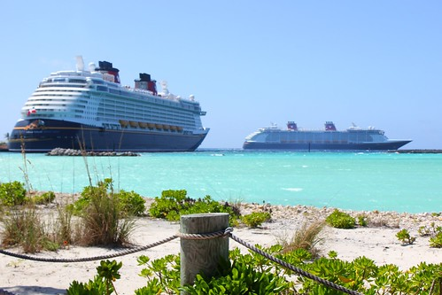 Disney Fantasy and Disney Dream from Castaway Cay